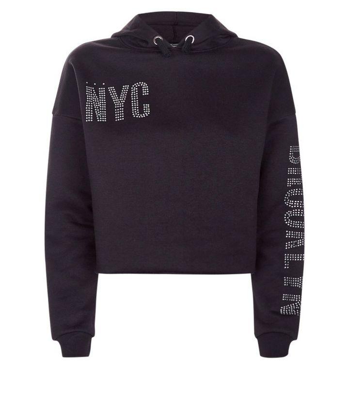 strona internetowa ze zniżką dostępny gorąca sprzedaż online Teens Black NYC Brooklyn Diamante Embellished Hoodie Add to Saved Items  Remove from Saved Items