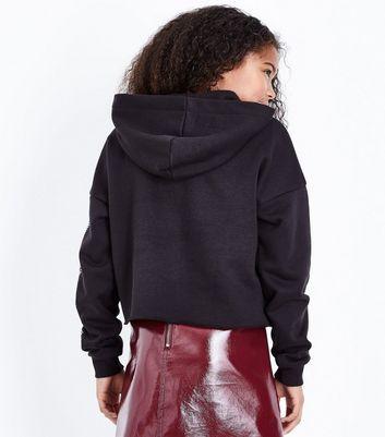 Teens Black NYC Brooklyn Diamante Embellished Hoodie New Look