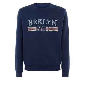 Blue NYC Print Front Sweatshirt New Look