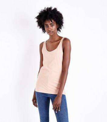 Light Brown Scoop Neck Vest New Look