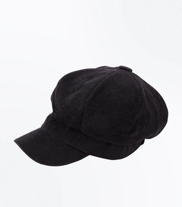060825561e1f8c Black Cord Baker Boy Hat