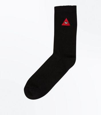 Black Triangle Eye Socks New Look