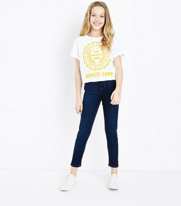 Teens White California Logo Front T-Shirt New Look