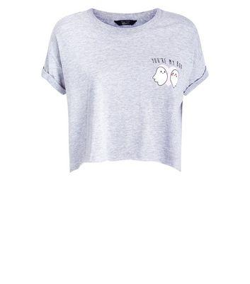 Teens Grey You're My Boo Slogan Crop T-shirt New Look