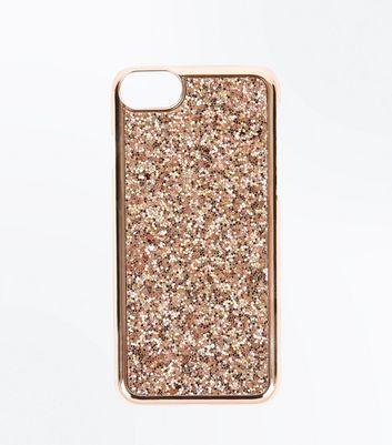 Gold Glitter Phone Case New Look
