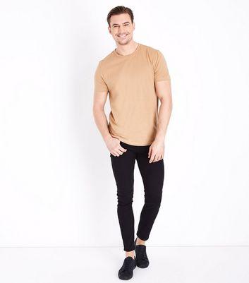 Tan Crew Neck T-Shirt New Look