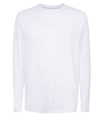 White Long Sleeve Crew Neck T-Shirt New Look