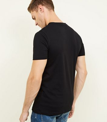 Black Short Sleeve Muscle Fit T-Shirt New Look