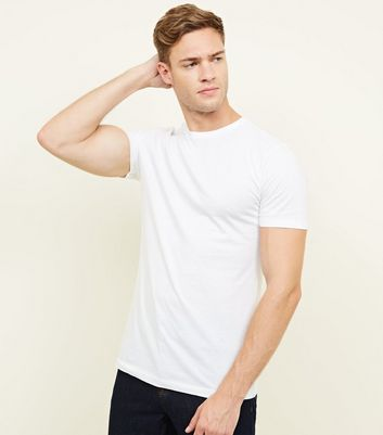 White Short Sleeve Muscle Fit T-Shirt