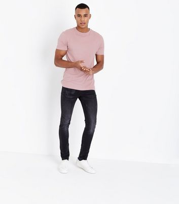 Pink Short Sleeve Muscle Fit T-Shirt New Look