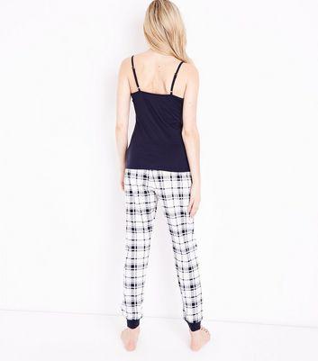 Tall Blue Check Pyjama Set New Look