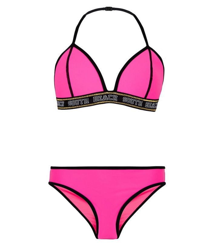 classic styles unparalleled discount Girls Pink Neon South Beach Bikini Add to Saved Items Remove from Saved  Items