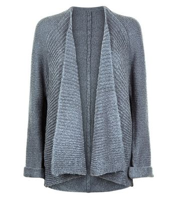 QED Grey Waterfall Cardigan New Look