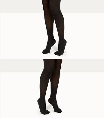 2 Pack Maternity Black 50 Denier Tights