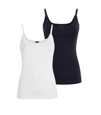 2 Pack Monochrome Camis New Look