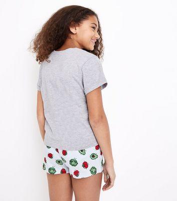 Teens Blue Lettuce Celebrate Print Pyjama Set New Look