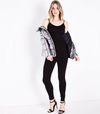 Black Cross Back Jumpsuit New Look