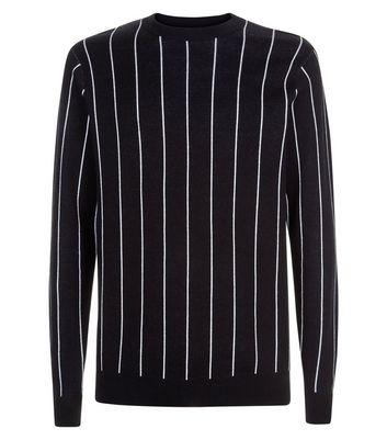 Schwarzer Pullover mit vertikalen Streifen Für später speichern Von gespeicherten Artikeln entfernen