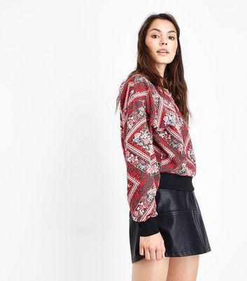 Red Jacquard Sweatshirt New Look