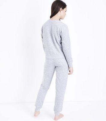 Teens Dark Grey Sausage Dog Pyjama Set New Look