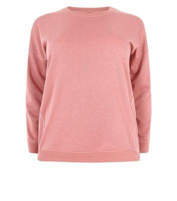 Curves Rust Slouchy Sweatshirt New Look