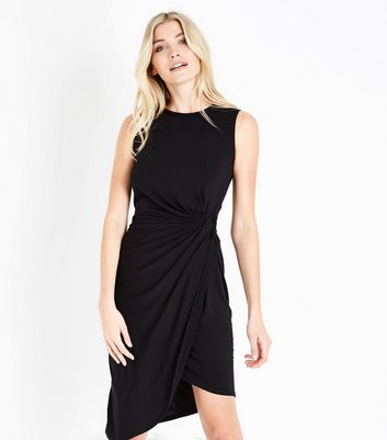 Mela Black Ruched Side Dress
