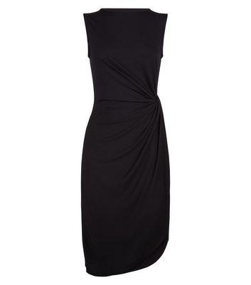 Mela Black Ruched Side Dress New Look