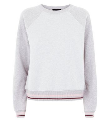 Grey Reverse Sleeve Sweatshirt New Look