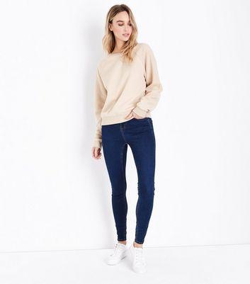 Camel Reverse Sleeve Sweatshirt New Look