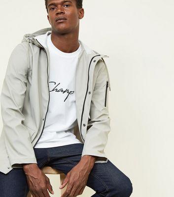 shop for Men's Stone Hooded Rain Coat New Look at Shopo