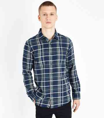 Blue Check Pocket Front Shirt