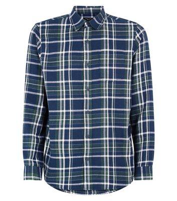 Blue Check Pocket Front Shirt New Look