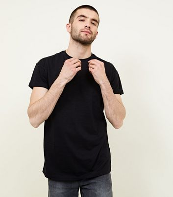 Black Rolled Sleeve T-Shirt