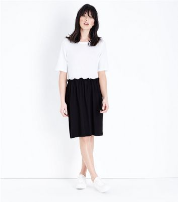 Noisy May White 2 in 1 Colour Block Dress New Look