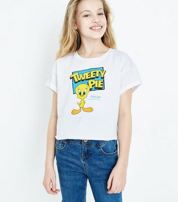 Girls White Tweety Pie T-Shirt