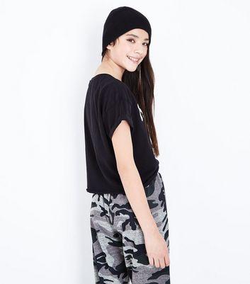 Teens Black Nasa Slogan Front T-Shirt New Look