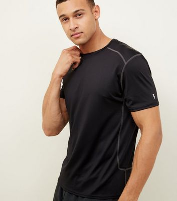 Black Stretch Short Sleeve Sports T-Shirt