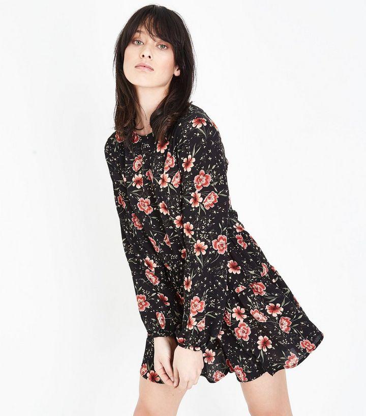 0a7365154b Tall Black Floral Long Sleeve Playsuit