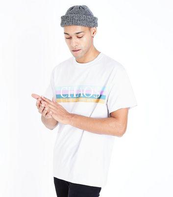 White Chaos Slogan Print T-Shirt New Look