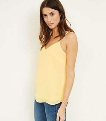 Tall Yellow Strappy Back Cami