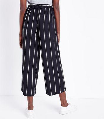 Tall Black Stripe Culottes New Look