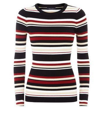 Red Stripe Jumper New Look