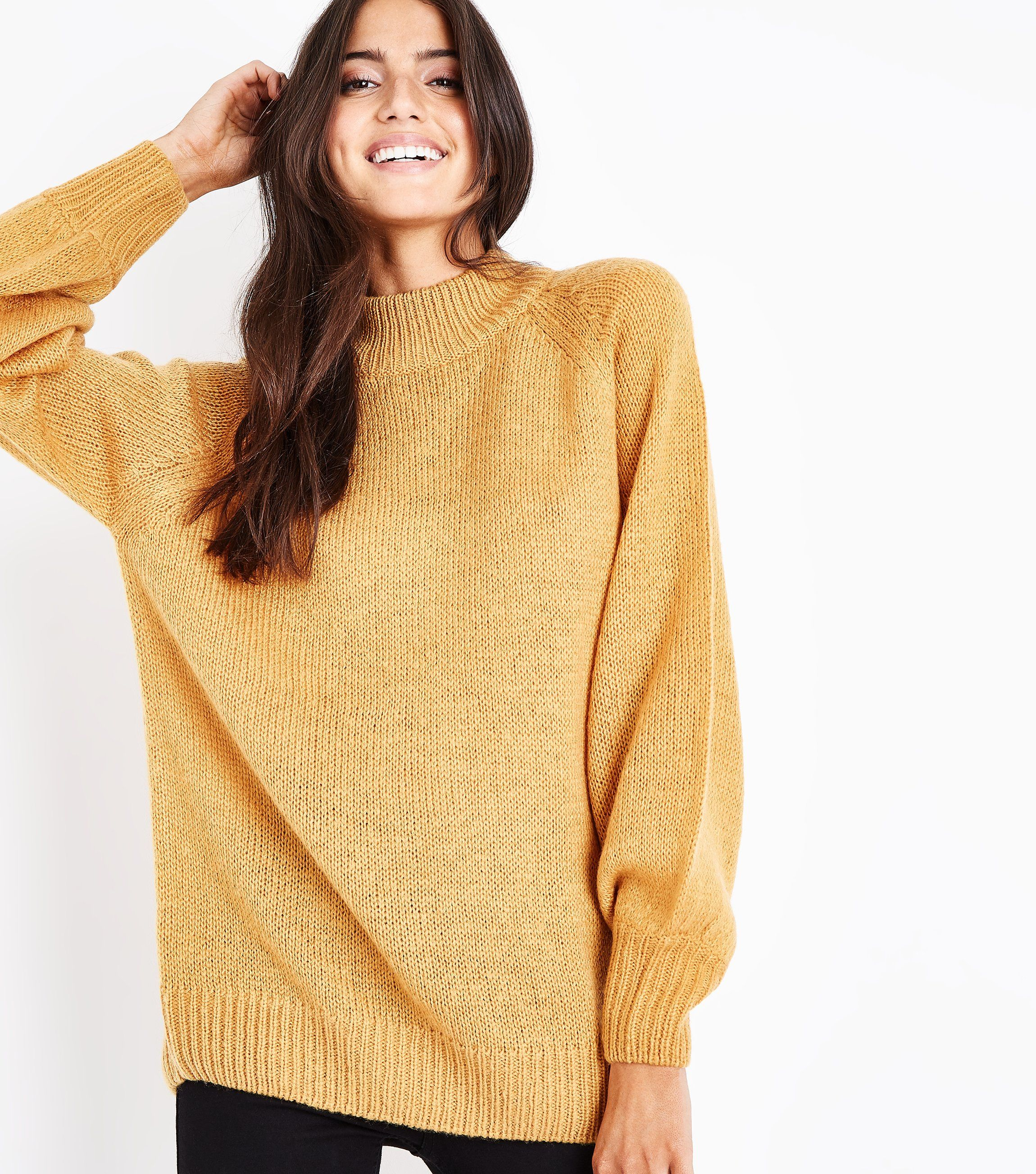 Mustard Yellow Ribbed Cuff Jumper