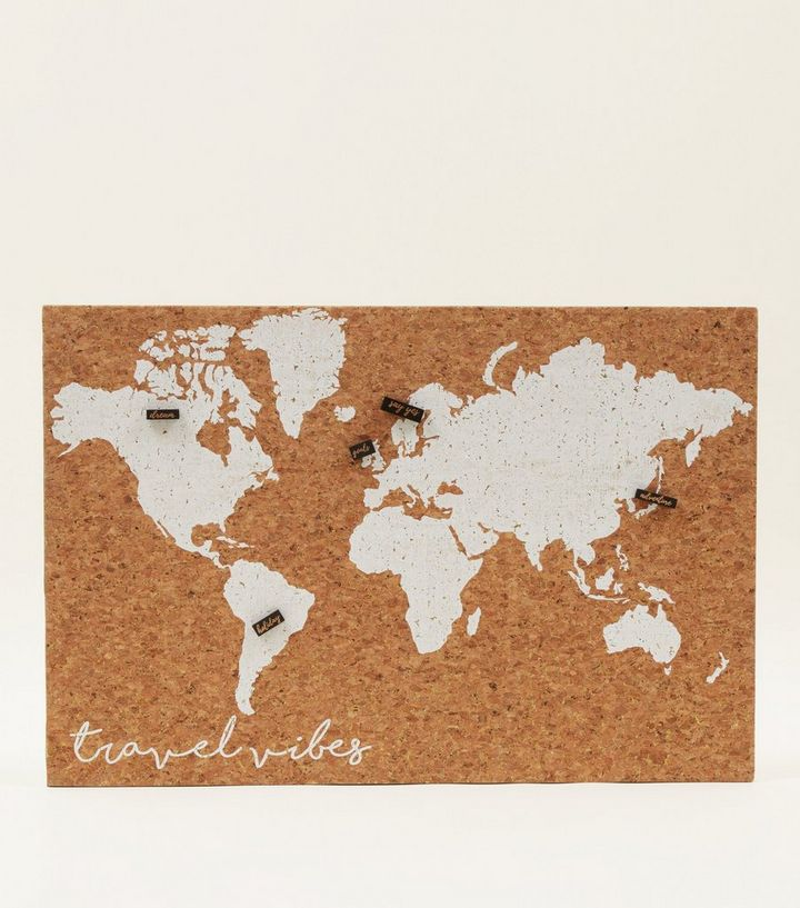 White World Map Cork Board Add to Saved Items Remove from Saved Items