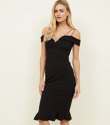 AX Paris Black Off the Shoulder Fishtail Dress