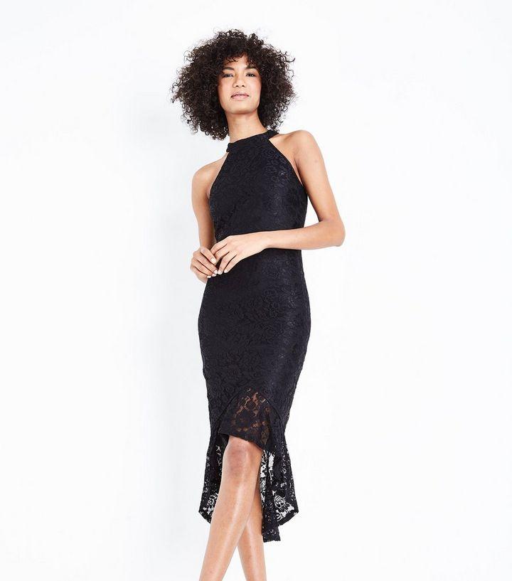52b95373c7ad AX Paris Black Fishtail Lace Dress
