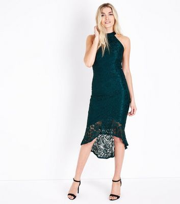 AX Paris Teal Fishtail Lace Dress New Look