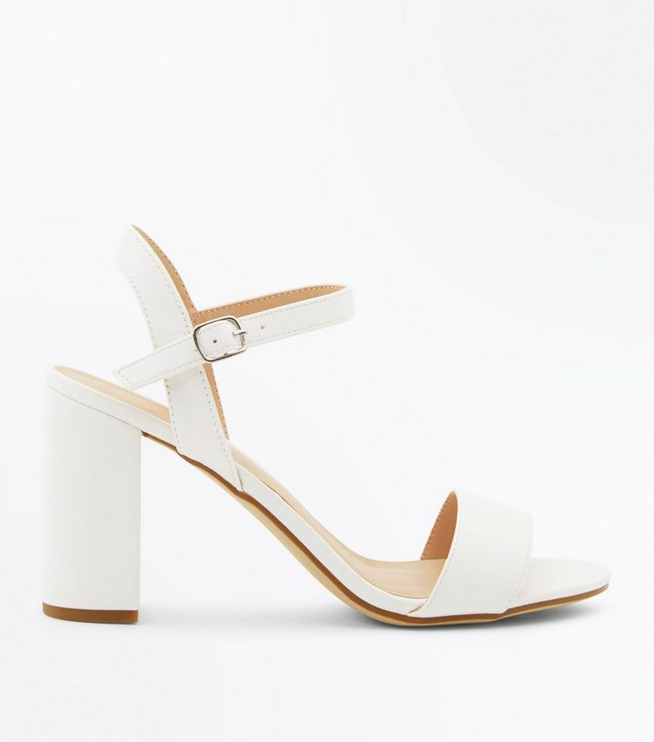 0927d4b6e61 White Ankle Strap Block Heel Sandals Add to Saved Items Remove from Saved  Items