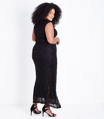 Mela Curves Black Lace Maxi Dress New Look