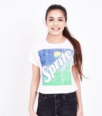 Teens White Sprite Logo Print T-Shirt New Look